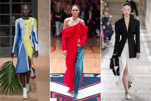 Slits on the Spring 2018 runways.