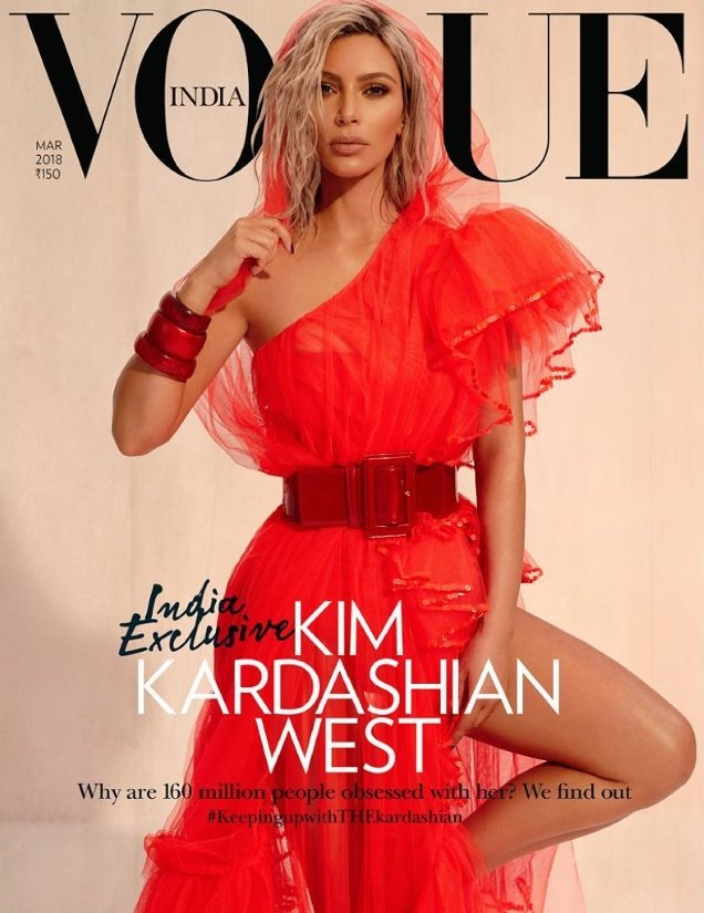 Vogue India March 2018 : Kim Kardashian West by Greg Swales
