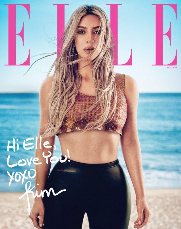 US Elle April 2018 : Kim Kardashian by Boo George
