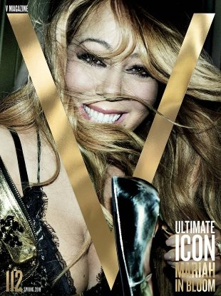 V Magazine #112 Spring 2018 : Mariah Carey by Mario Testino