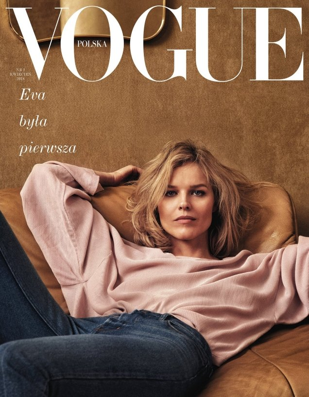 Vogue Poland April 2018 : Eva Herzigova by Chris Colls