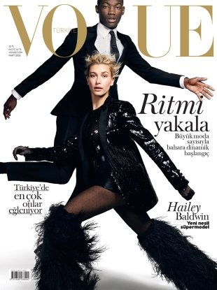 Vogue Turkey March 2018 : Hailey Baldwin & Valentine Rontez by Liz Collins
