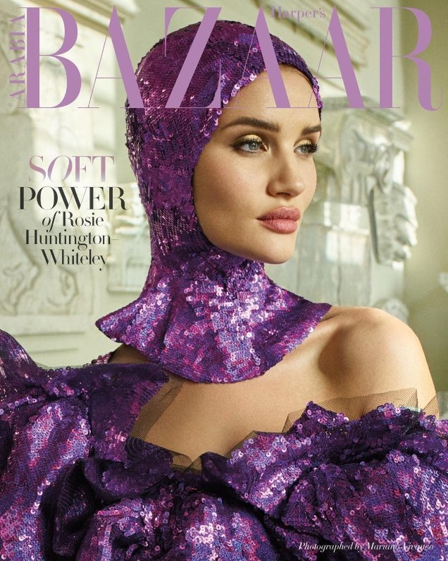 Harper's Bazaar Arabia April 2018 : Rosie Huntington-Whiteley by Mariano Vivanco