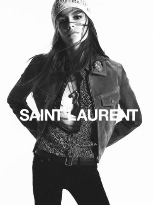 Saint Laurent Fall 2018 : Kaia Gerber by David Sims