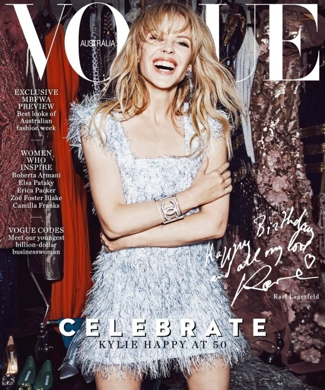 Vogue Australia May 2018 : Kylie Minogue by Nicole Bentley