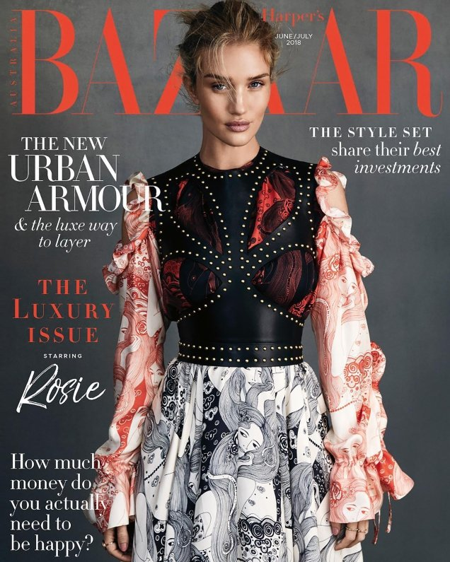 Harper's Bazaar Australia June/July 2018 : Rosie Huntington-Whiteley