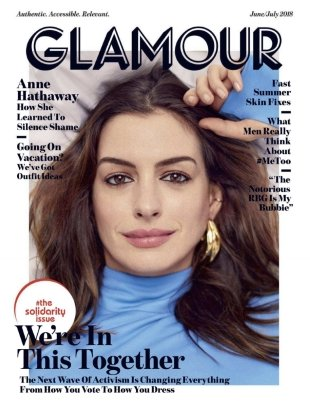 US Glamour June/July 2018 : Anne Hathaway by Billy Kidd
