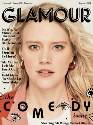 US Glamour August 2018 : Kate McKinnon by Miguel Reveriego