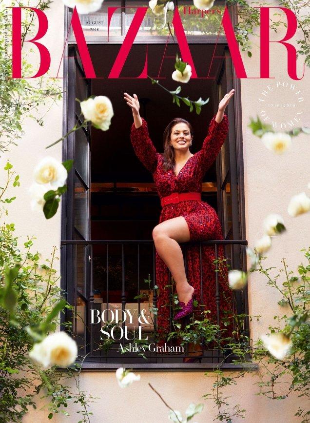 UK Harper's Bazaar August 2018 : Ashley Graham by Alexi Lubomirski
