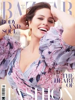 UK Harper's Bazaar August 2018 : Ashley Graham by Alexi Lubomirski