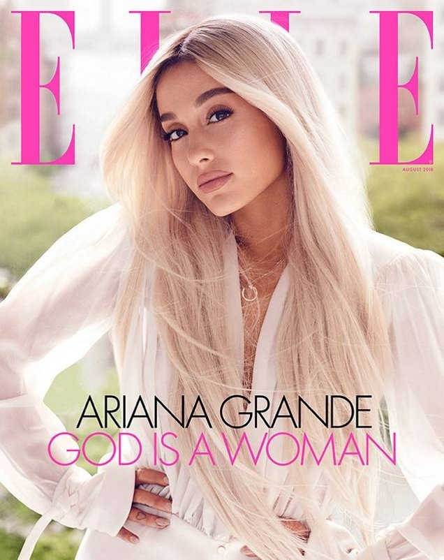 US Elle August 2018 : Ariana Grande by Alexi Lubomirski