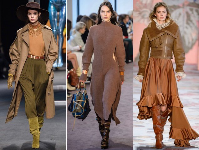 Rich colors also saturated the Fall 2018 runways.