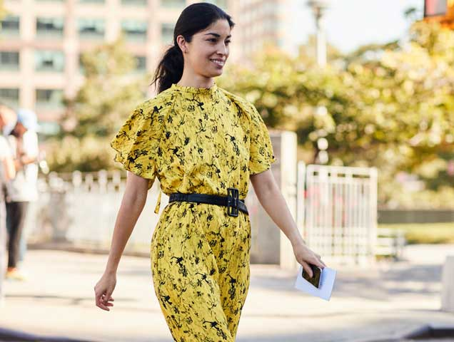 Gen Z yellow spotted at Spring 2018 New York Fashion Week