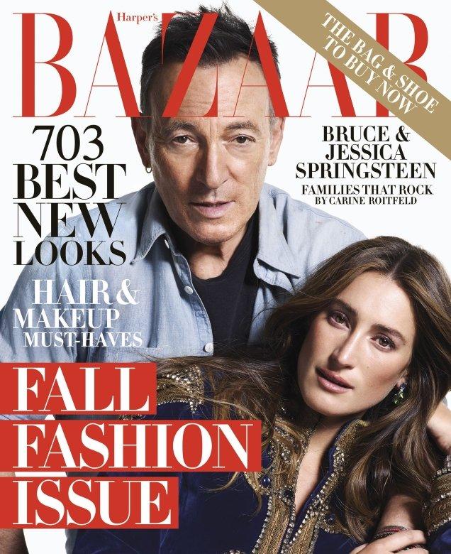 US Harper's Bazaar September 2018 : Bruce & Jessica Springsteen by Mario Sorrenti