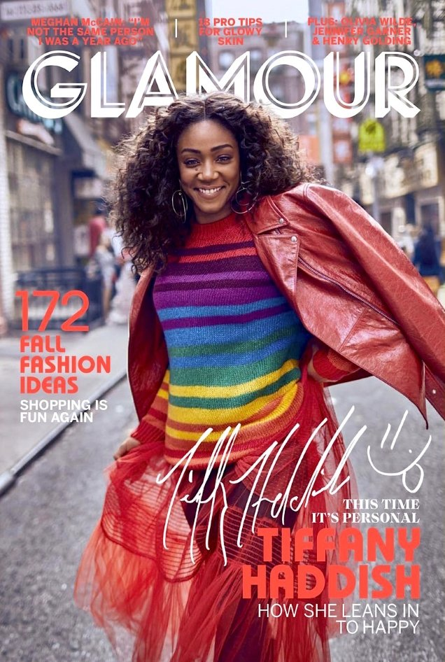 US Glamour September 2018 : Tiffany Haddish by Billy Kidd