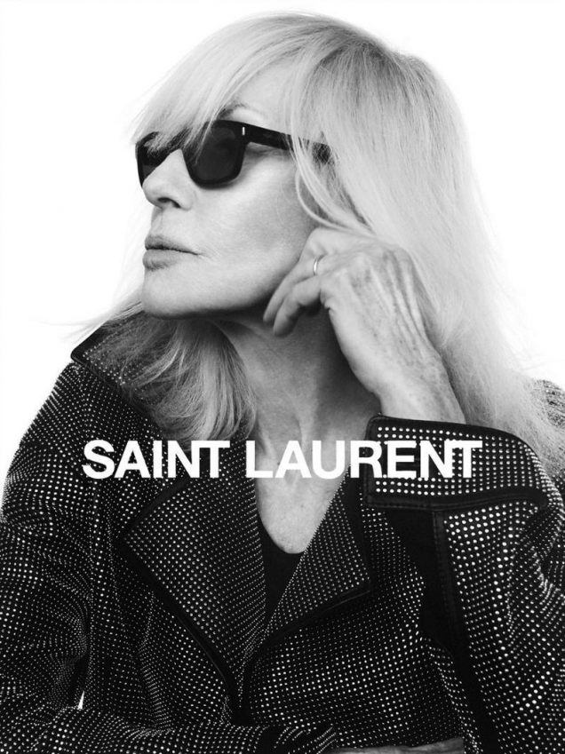 Betty Catroux for Saint Laurent Fall 2018.
