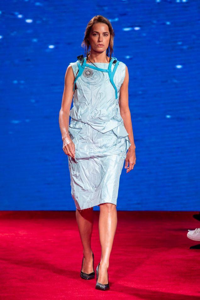 Yasmin Le Bon at Calvin Klein Spring 2019.