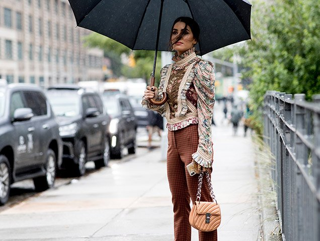 42 Rainy Day Street Style Snaps From New York Fashion Week Thefashionspot