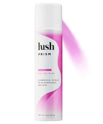 Hush  10 Hair Tinting Products for a No-Risk, Temporary Color Boost hush prism airbrush spray color depositing hair care