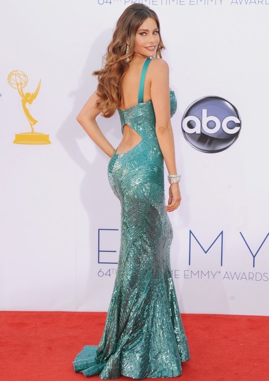 Sofia Vergara at the 2012 Emmy Awards