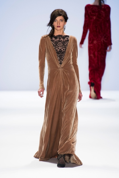 Fall 2013 Brown Dresses For Women Velvet Dresses