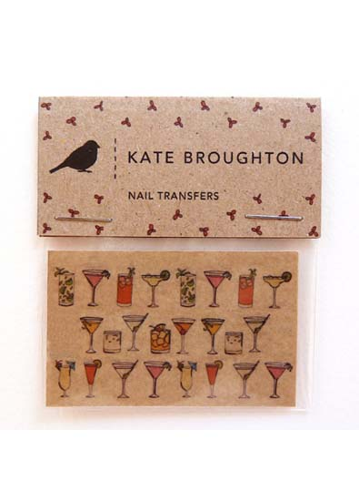 Kate Broughton Cocktail Nail Transfers