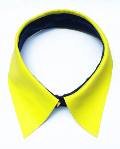 Eleven Objects Citron Leather Collar