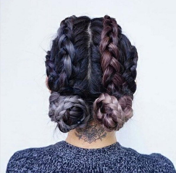 Superb Two Buns Hairstyle 19 Ways To Wear Double Buns Thefashionspot Short Hairstyles Gunalazisus