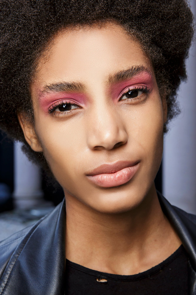 Deep Pink Eyeshadow and Neutral Lipstick