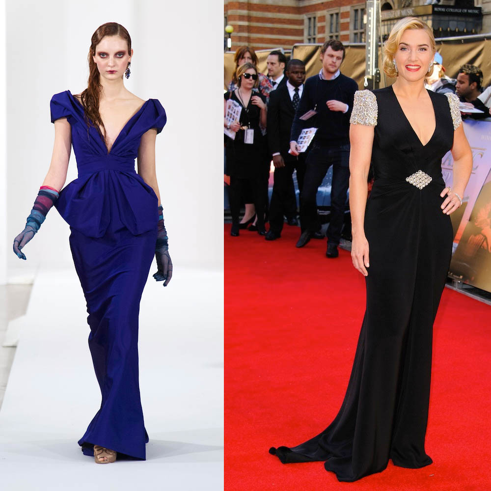 Oscar de la Renta & Kate Winslet