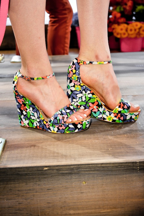 Kate Spade's Painted Floral Wedges