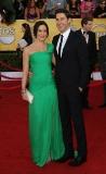 John Krasinski and Emily Blunt in Oscar de la Renta