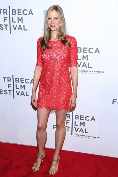 Mira Sorvino at the Premiere of Mistaken for Strangers