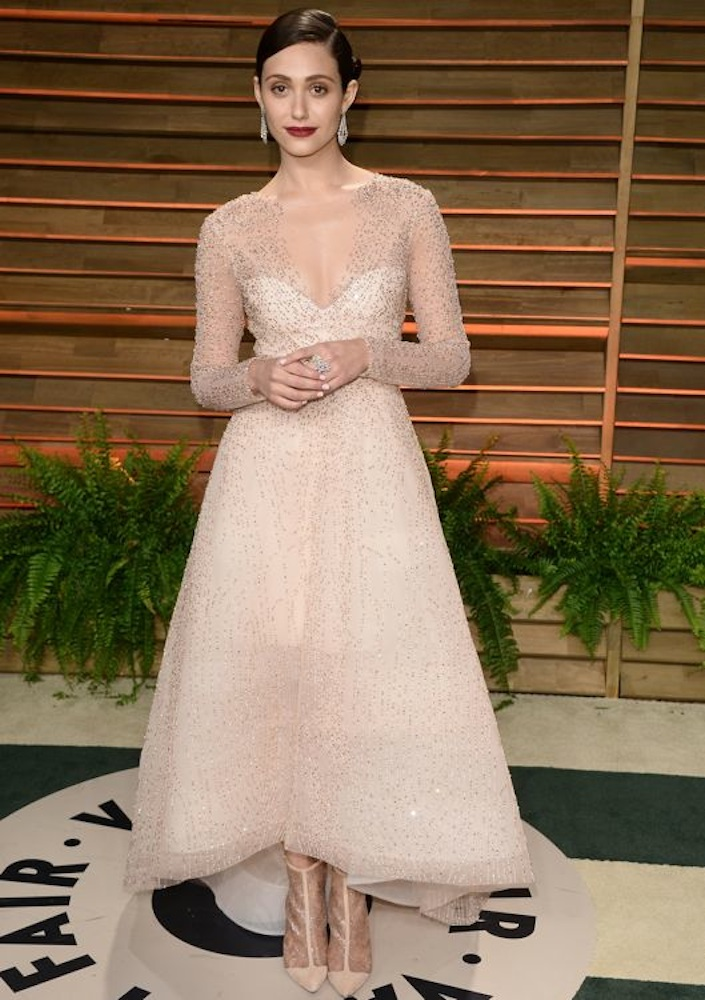Emmy Rossum at the 2014 Vanity Fair Oscar Party