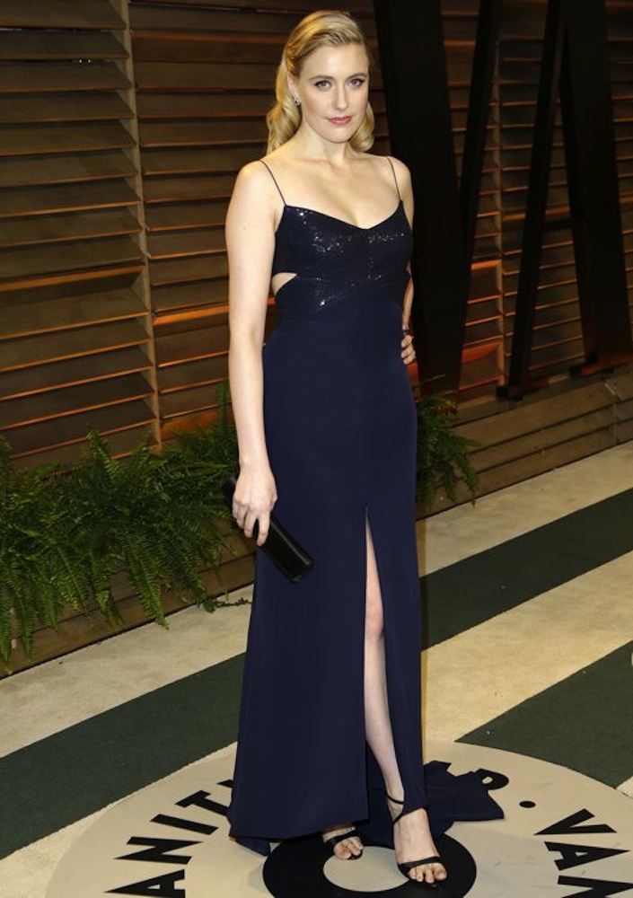 Greta Gerwig at the 2014 Vanity Fair Oscar Party