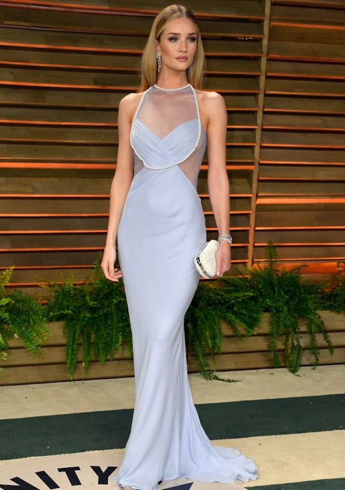 Rosie Huntington-Whiteley at the 2014 Vanity Fair Oscar Party