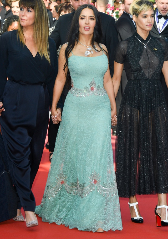 Salma Hayek at the Premiere of Girls of the Sun