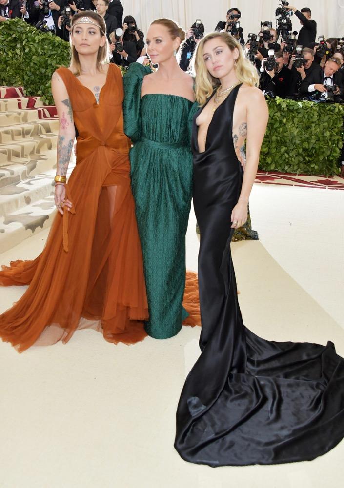 Paris Jackson, Stella McCartney and Miley Cyrus