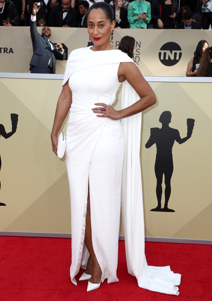 Tracee Ellis Ross  All the Glitz and Glamour From the 2018 SAG Awards Red Carpet Tracee Ellis Ross 2018 SAG Awards
