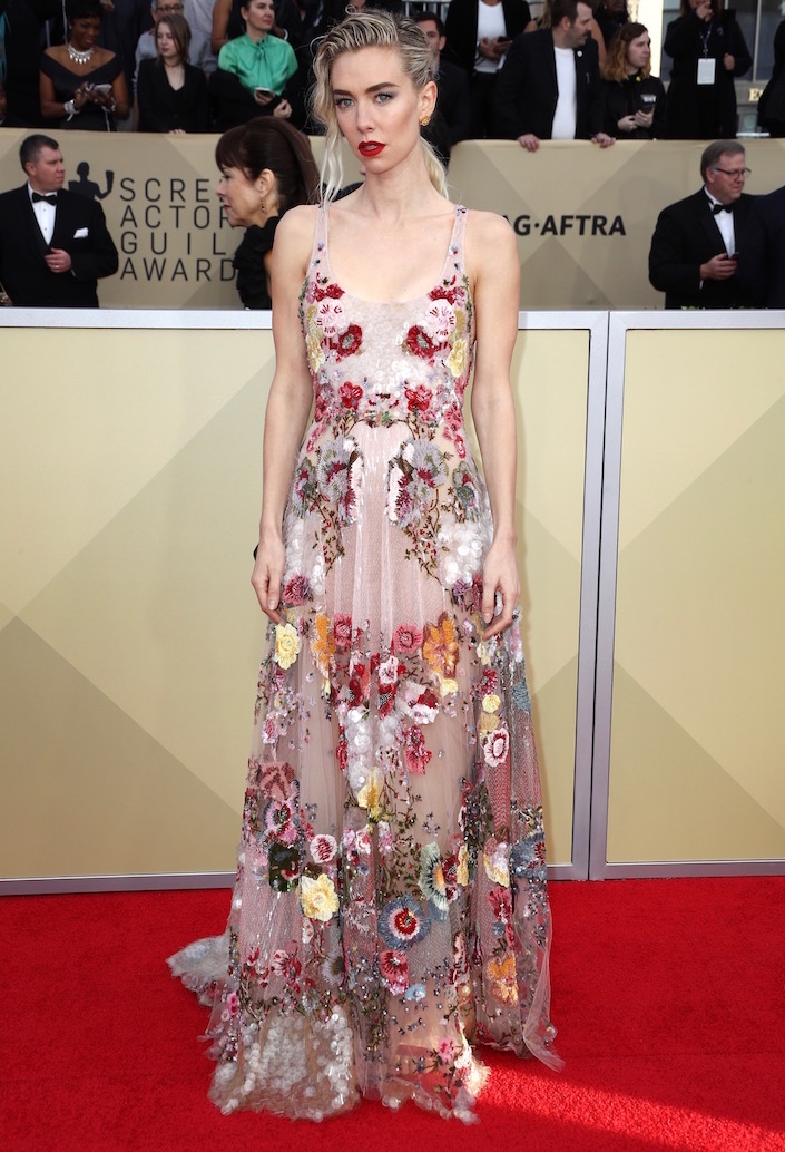 Vanessa Kirby  All the Glitz and Glamour From the 2018 SAG Awards Red Carpet Vanessa Kirby 2018 SAG Awards