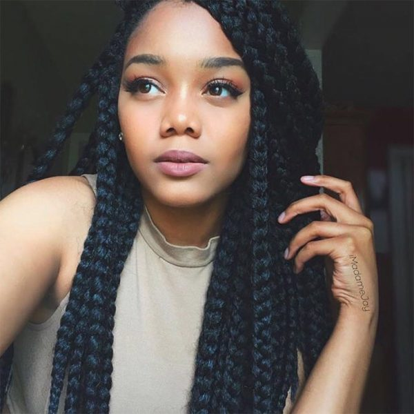 23 Gorgeous Ways to Wear Box Braids Hairstyles - theFashionSpot
