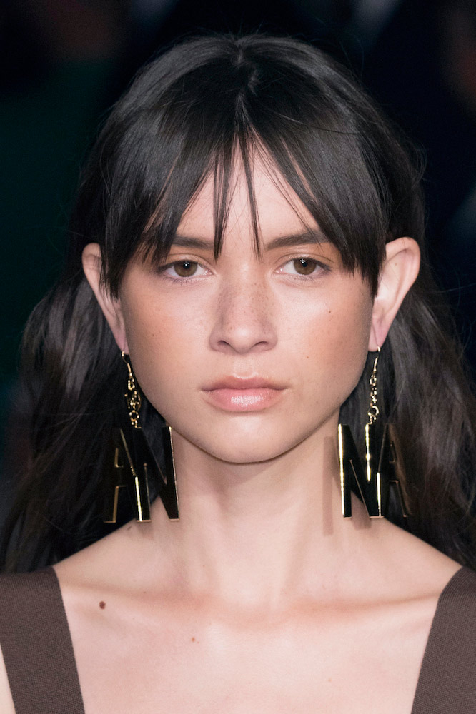 Middle-Parted Bangs Hairstyles