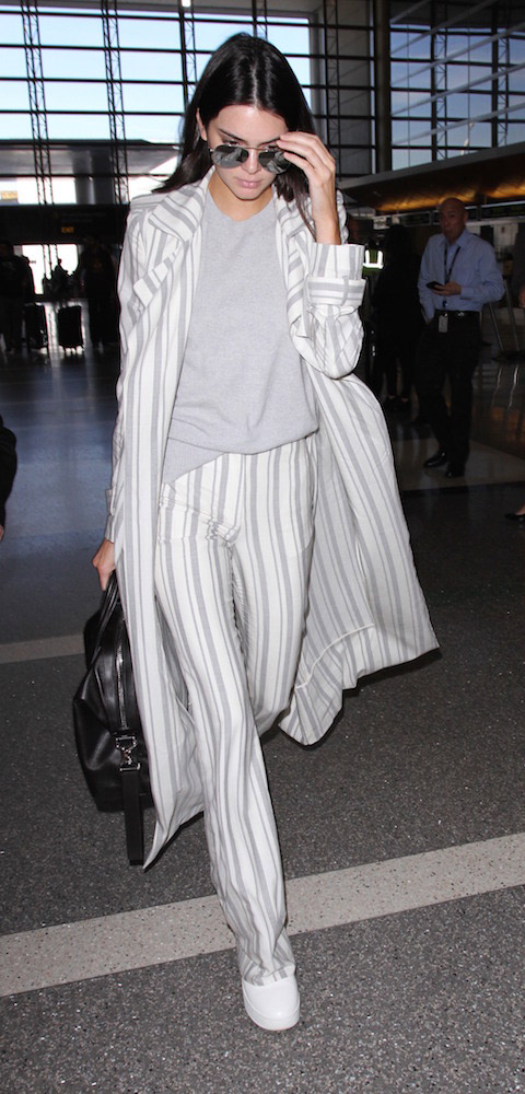Stripes: Kendall Jenner