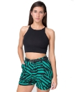 American Apparel Poly Printed Pleated Cuff Short