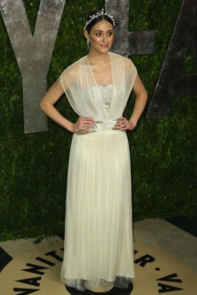 Emmy Rossum at the 2013 Vanity Fair Oscar Party
