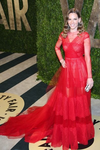 Hilary Swank at the 2013 Vanity Fair Oscar Party