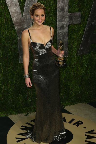Jennifer Lawrence at the 2013 Vanity Fair Oscar Party