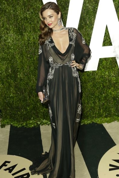 Miranda Kerr at the 2013 Vanity Fair Oscar Party