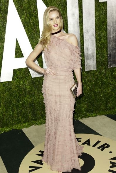 Rosie Huntington-Whiteley at the 2013 Vanity Fair Oscar Party