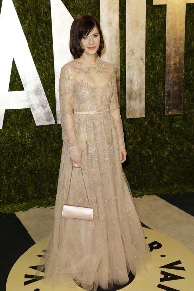 Zooey Deschanel at the 2013 Vanity Fair Oscar Party